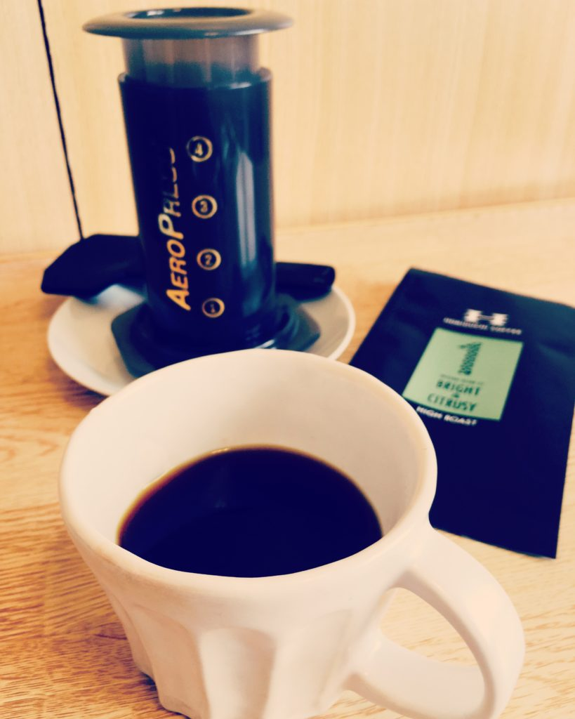 Horiguchi coffee blend 1 aeropress 819x1024 - 堀口珈琲のブレンド#1は評判通りおいしい?正直に述べてみた