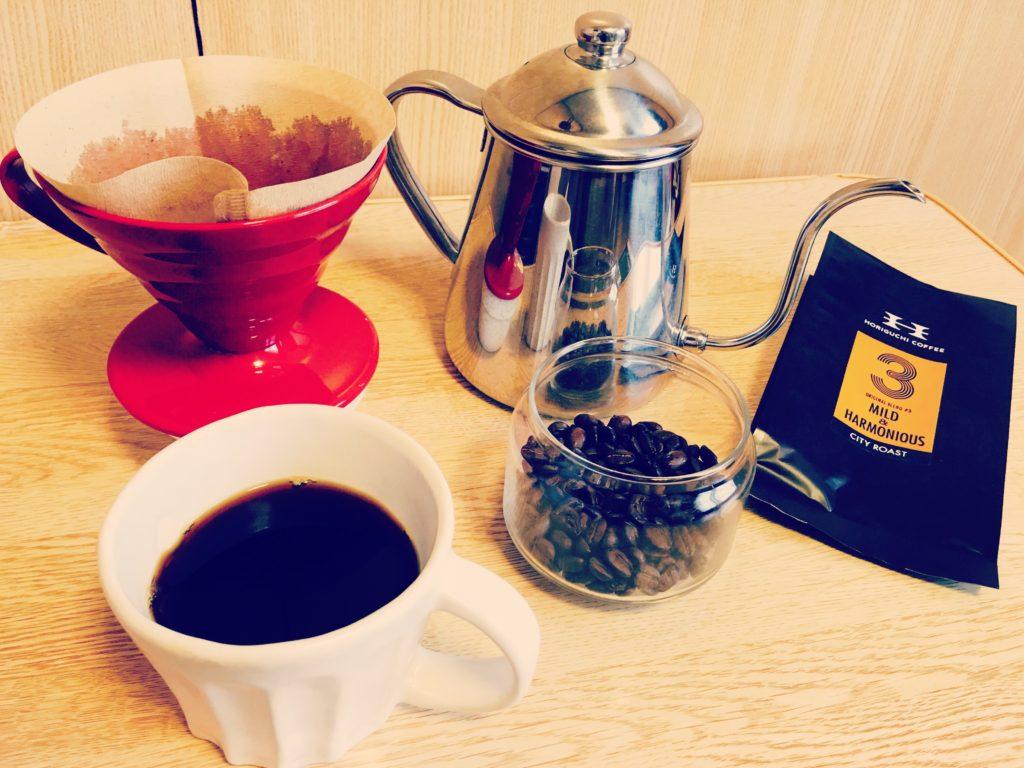 Horiguchi coffee blend hario v60 1024x768 - 堀口珈琲って評判どおり美味しい?ブレンドコーヒー豆#3を通販購入