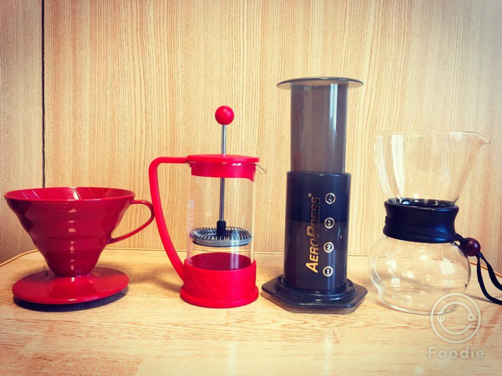 Marumaya coffee7 2 1024x768 - 南蛮屋のコーヒー豆「ブラジルショコラ」を4つの抽出器具で飲み比べてみた