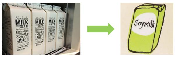 豆乳に変更