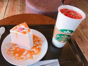 starbucks sakura chiffon cake 300x225 - スタバ【さくらシフォンケーキ】カロリー・カスタマイズ・感想