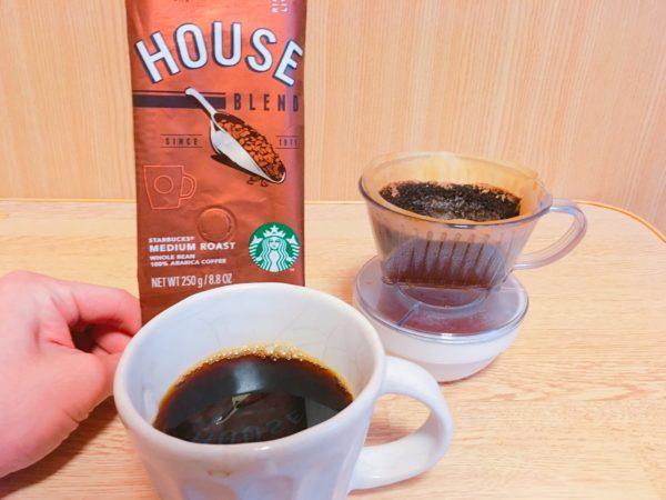 starbucks houseblend4 600x450 - スタバのコーヒー豆「ハウスブレンド」を飲んだ感想を正直に述べる