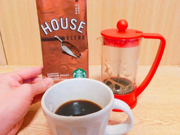 starbucks houseblend5 600x450 - スタバのコーヒー豆「ハウスブレンド」を飲んだ感想を正直に述べる