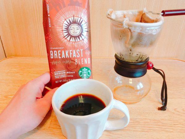 IMG 0644 600x450 - スタバのコーヒー豆「ブレックファーストブレンド」飲んだ感想を正直に述べる