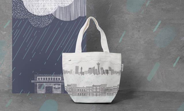 seattle city tote bag card tile long 569x343 - シンガポールスタバからシアトルを描いたタンブラーやバッグが新発売!