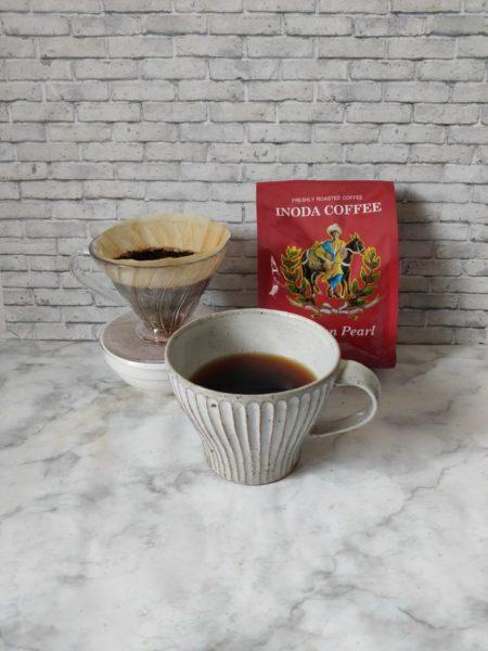 コーヒー豆の量を調節して抽出した写真