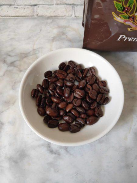 イノダコーヒ プレミアムのコーヒー豆の状態