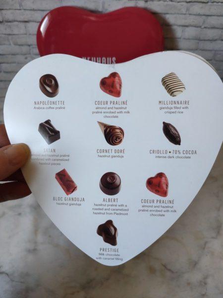 ノイハウスのチョコレートのラインナップ