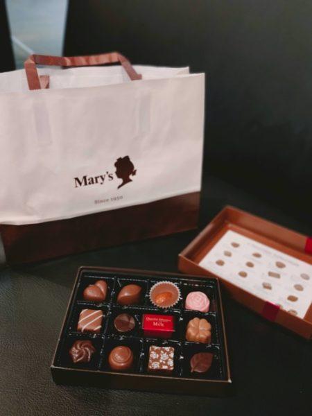 メリーチョコレートの開封写真