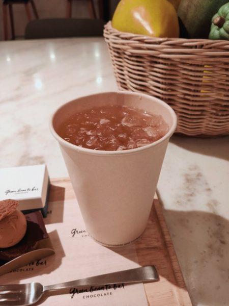 グリーンビーントゥバーチョコレートのカカオティー