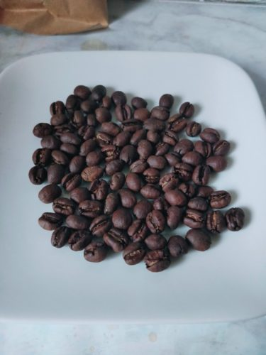 wabisuke ブラジル ブルボン クラシコ ピーベリーのコーヒー豆の状態