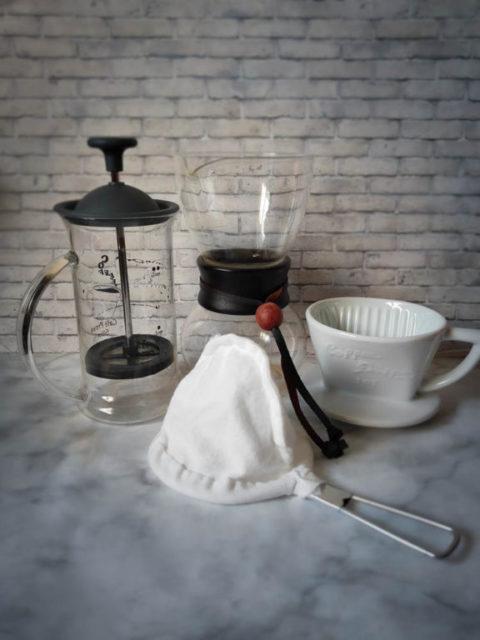 使用するコーヒー器具(ペーパードリップ・フレンチプレス・ネルドリップ)