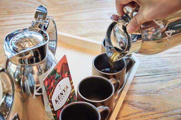 同じコーヒー豆を様々な抽出方法で試せる