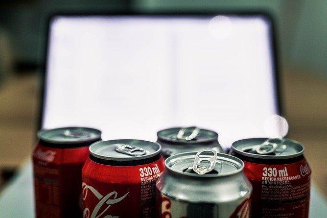 コーラなどの清涼飲料水
