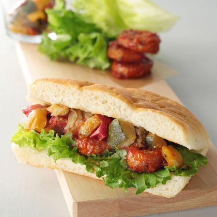 グリル野菜&ソイハンバーグ フォカッチャの値段・カロリー