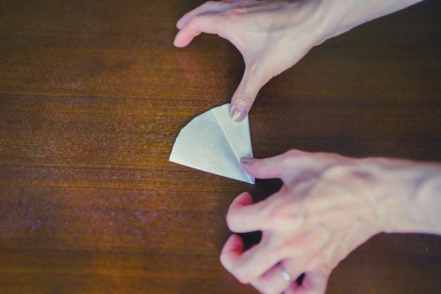 ペーパーフィルターの折り方