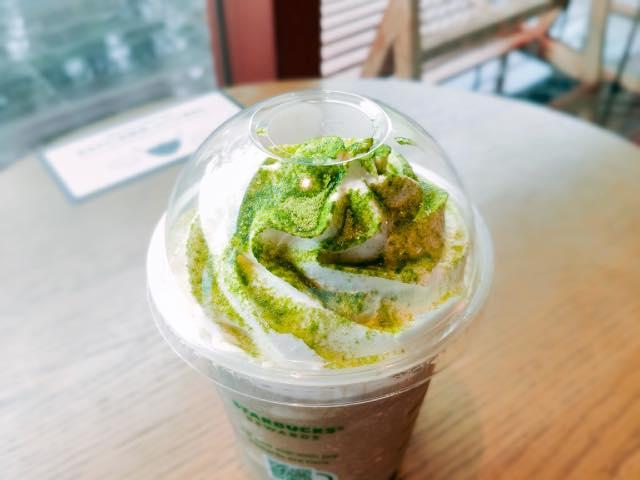 奈良ならでは ほうじ茶ホワイトチョコレートフラペチーノ